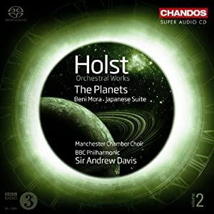 Holst Orchestral Works 2 The Planets Japanese Suite Beni Mora by Chandos