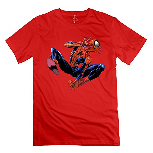 [Spider Man 100% Cotton Men's Tees Shirt Red Size S Customized By Rahk] (Peter Cotton Tail)
