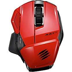 Mad Catz Office R.A.T. M Wireless Mobile Mouse for PC, Mac & Android - Black/Red
