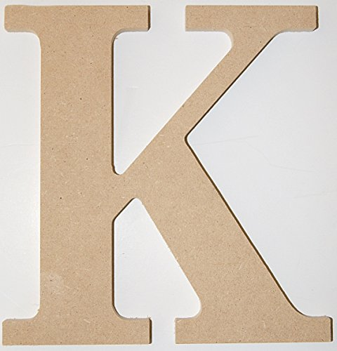 "Pressed Wood Initials Wall Decor - 8"" Classic K"