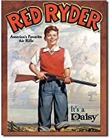 Daisy Red Ryder America's Favorite Air Rifle Retro Vintage Tin Sign