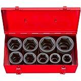 """TEKTON 4892 1"""" Drive Deep Impact Socket Set, 1""""-2"""", SAE, Cr-Mo, 9 Sockets"""