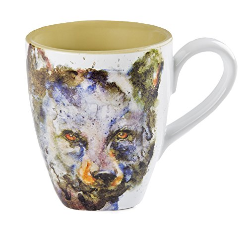 Big Sky Carvers Bear Mug - Featuring Artwork by Oregon Watercolor Painter Dean Crouser - Glazed Stoneware with Pure White Background - Holds 16 Ounces (Detail Carver compare prices)
