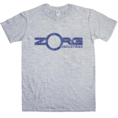Mens Inspired By The Fifth Element T Shirt - Zorg Industries - Sport Grey - Large (Leeloo 5th Element)