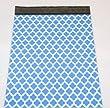 100 12x15 Blue Quatrefoil Poly Mailers