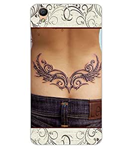 ColourCraft Awesome Tatto Design Back Case Cover for OPPO F1 PLUS
