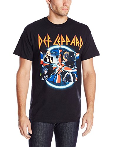 FEA Men's Def Leppard Shattered Group Photo T-Shirt(XX-Large)