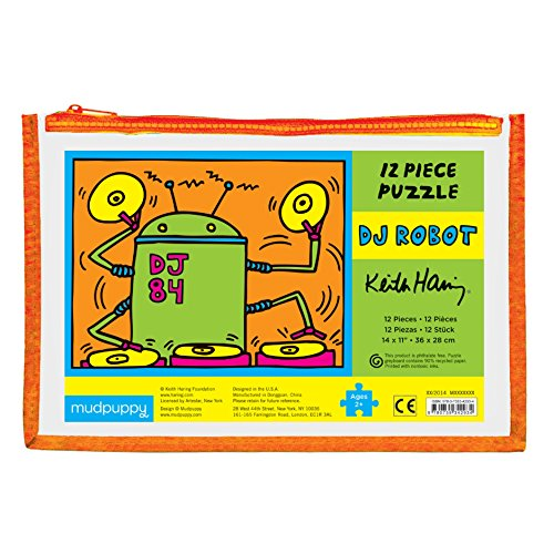 Mudpuppy Keith Haring DJ Robot Pouch Puzzle
