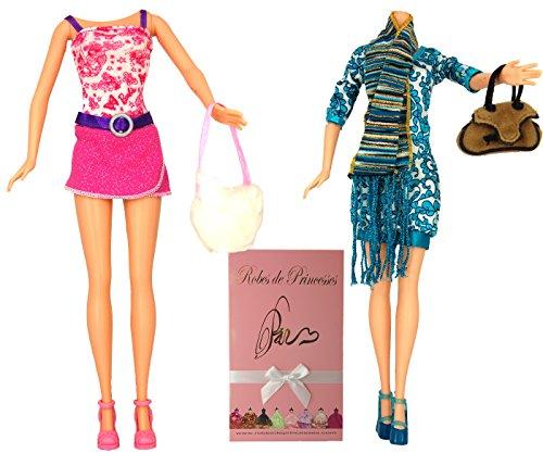 """Lotto di Vestiti """"LOANA"""" per bambole Barbie, Disney ed altri personaggi - """"serie limitata"""""""