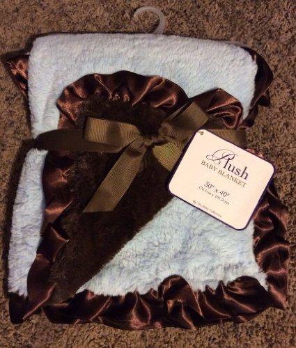 "Plush ""Blue/brown"" Mink Baby Blanket"