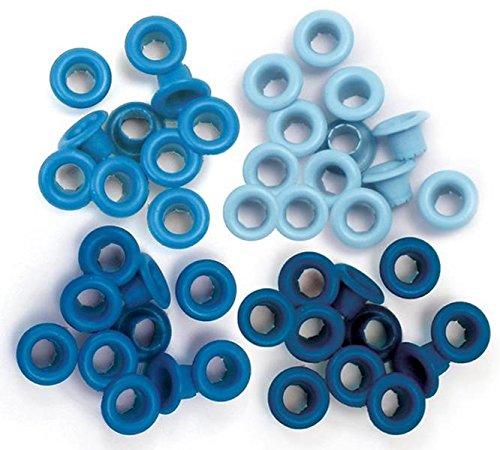 Set de 60 eyelets para Crop a Dile color azul de 0,5cm ref wer-es-41578