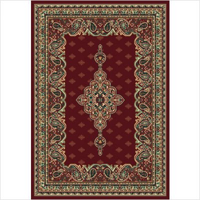 Traditional Area Rug, United Weavers Manhattan 8'x11' Queens Burgundy