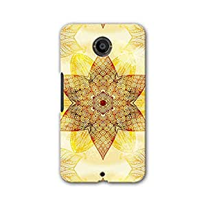 ArtzFolio Ethnic Beige Ornament : Google Nexus 6 Matte Polycarbonate ORIGINAL BRANDED Mobile Cell Phone Protective BACK CASE COVER Protector : BEST DESIGNER Hard Shockproof Scratch-Proof Accessories
