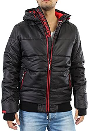 Superdry Polar Sports Puffer Jacket - Black/Red XXL BLACK/RED | Amazon