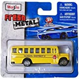 Maisto Fresh Metal Die Cast Vehicles ~ 2009 School Bus, District 2 (Yellow With Red Stop Sign)
