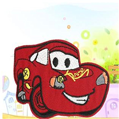 coolpart Embroidered Iron on Patch per vestiti Cute Cars McQueen Deal con esso abbigliamento fai da te Motif Applique perfetto cerotti