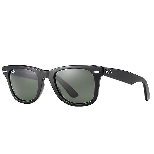 Para estrenar d180d ec836 Ray-Ban 0RB2140 Original Wayfarer Sunglasses, Black, 54mm ...
