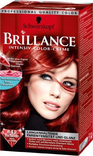 Testanera Brilliance Capelli 842 Kaschmirrot / intensità del colore a lunga durata e lucentezza