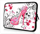 PS10-199 flower & pink High-heeled shoes 9.7 10 10.1 10.2 inch soft Neoprene Laptop Netbook Tablet Case Sleeve bag cover pouch For iPad 2
