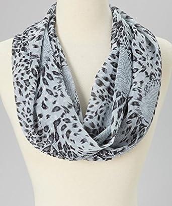 Amtal Infinity Scarf - Snow Leopard Print Design at Amazon