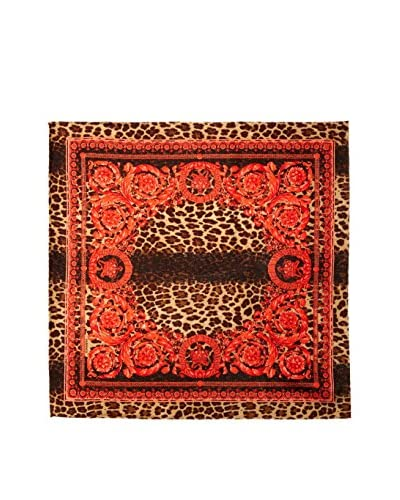 Versace Women's Patterned Silk Square, Red/Multi
