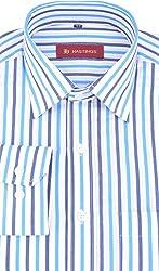 HASTINGS Men's Formal Shirt (V88_42, Blue, 42)