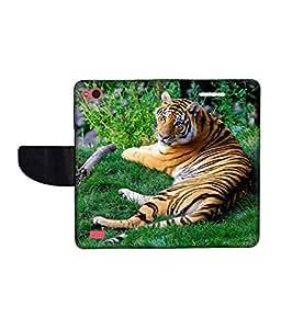 KolorEdge Printed Flip Cover For Gionee Elife E3 Multicolor - (45KeMLogo10095GioneeE3)