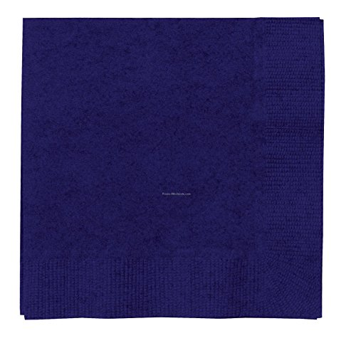 50 Ct. Navy Flag Blue 2-ply Beverage Napkin