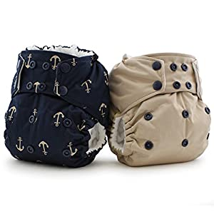 Rumparooz One Size Cloth Diapers: Ju-Ju-Be Admiral & Sand 2-pk *Limited Edition* from Kanga Care