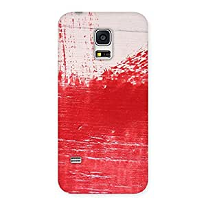 Impressive Red Fresh Texture Back Case Cover for Galaxy S5 Mini