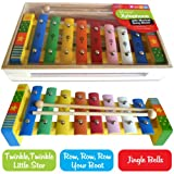 Childrens Wooden Musical Instrument - Xylophone - presented in wooden box and Song Sheet includedby Kids Learn Languages...