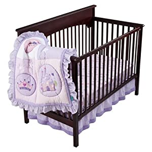 Tiddliwinks Princess Collection 3pc Crib Bedding Set