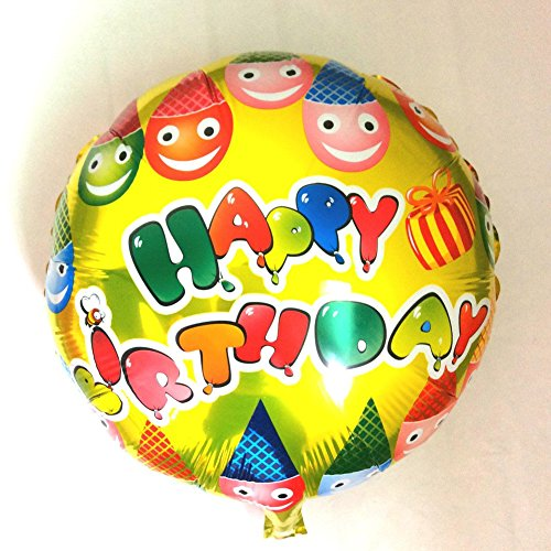 New Arrivel 4545cm Foil Balloons For Birthday Kids Parties Balloon Yellow Round