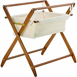 Cariboo Gentle Motions Crib Bassinet Set, Rimu, with White Fabric