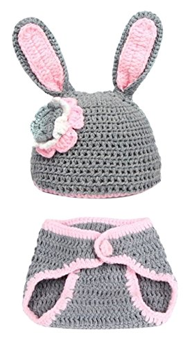 Newborn Baby Animal Pattern Crochet Knitted Photograph Props Cover Sleepwear