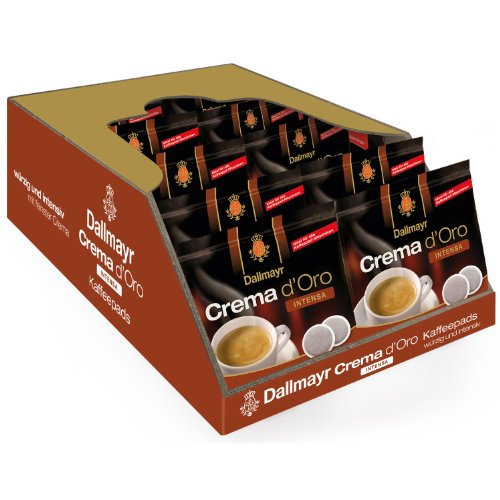 Dallmayr Crema d Oro Intensa, Pack of 10, 10 x 16 Coffee Pods