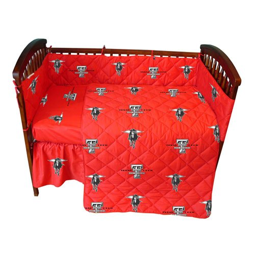 Texas Tech Baby Crib Fitted Sheet - Solid - Texas Tech Red Raiders front-1008401