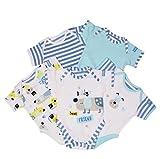 Lollipop Lane Pack of 5 Body Suits - Little Dude (Boys) (0-3 months)