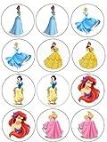 Single Source Party Supply - Disney Princess Cupcakes Edible Icing Image #2