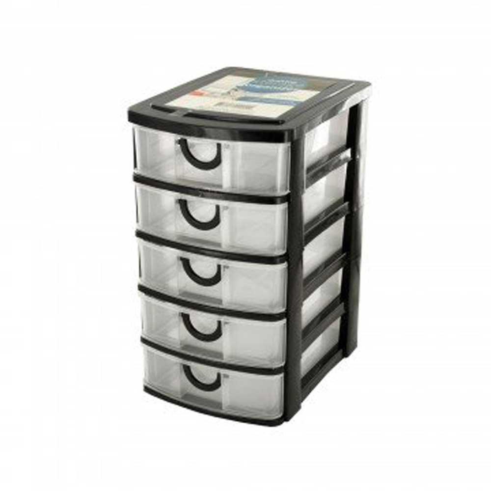 5 drawer desktop storage organizer ebay. Black Bedroom Furniture Sets. Home Design Ideas