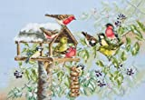Anchor Premier Winter Bird Table Cross Stitch Kit