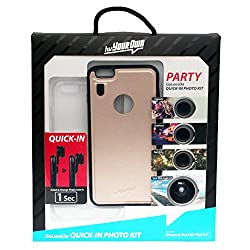 hvYourOwn Party GoLensOn QUICK-IN-PHOTO KIT with with 4 lens for iphone 6plus/6splus (Gold)