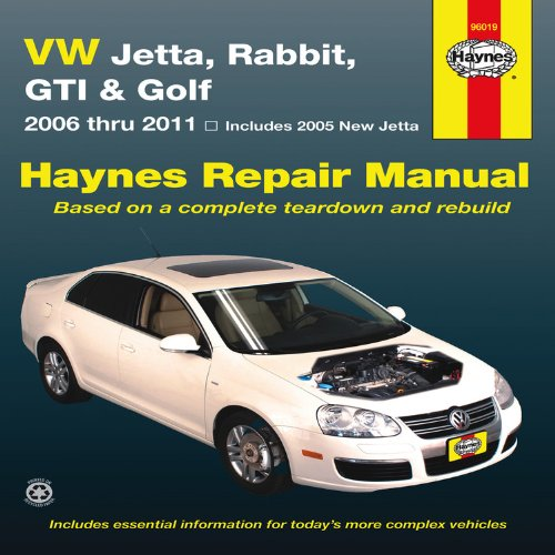 VW Jetta, Rabbit, GI, Golf Automotive Repair Manual: 2006-2011 (Vw Jetta Owners Manual compare prices)