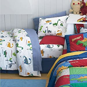 New Company Kids Dino Land Kids Duvet Cover/bed Sheet