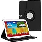HOKO® Flip Cover Case For Samsung Galaxy Note 10.1 SM-P601 360 Degree Rotating Leather Case With Flip Kickstand -Black