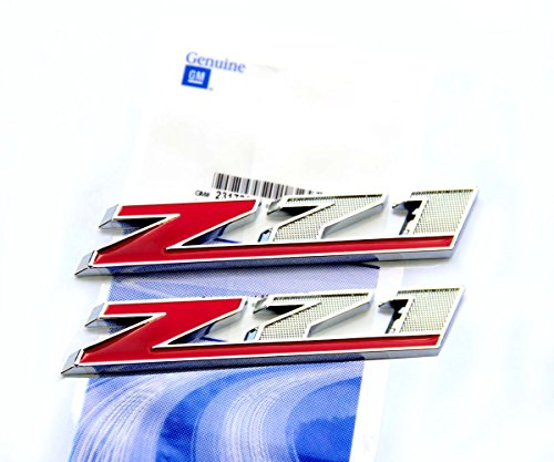 Yoaoo®2x OEM Chrome Red Z71 Emblems for GMC Chevy Silverado Sierra Tahoe Suburban Red (Chevy Tahoe Chrome Emblem compare prices)
