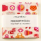 Moda From Bump to Baby Charm Pack, 42 5-inch Cotton Fabric Squares