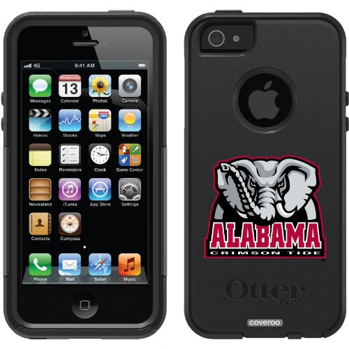 Special Sale University of Alabama Mascot design on a Black OtterBox® Commuter Series® Case for iPhone 5s / 5
