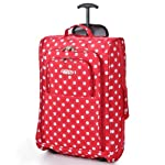 Cabin-Sized Wheeled Luggage Trolley Bags(Red Polka Dot)