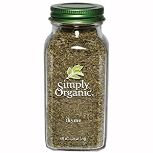 Simply Organic Thyme Leaf Whole Certified Organic, 0.78-Ounce Containers  (Pack of 3)